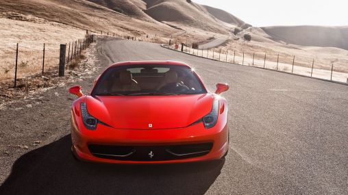 Ferrari 458 Italia on a beautiful road 1920×1080 HD