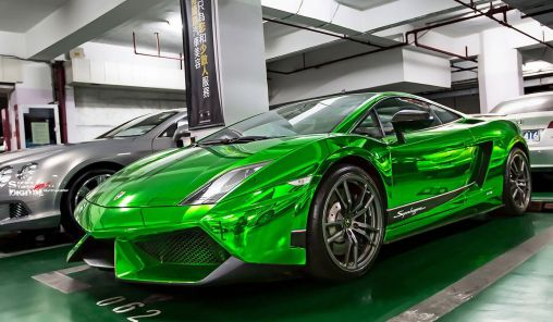 Green Chrome Exterior Lamborghini Gallardo Superleggera