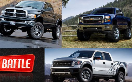 the battle of the trucks f 150 vs dodge ram vs. Black Bedroom Furniture Sets. Home Design Ideas