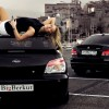 BMW 135i & Subaru Impreza with a blonde model 1920×1080 HD