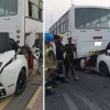 Ferrari California brutally crashed into a bus in Ajman