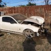 Teenage driver crashes white Ford Mustang on South Bryant
