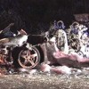 Ferrari completely destroyed – Two people seriously injured