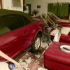 A 77-year-old man crashed his Ford Mustang into a house