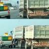 Mad road rage battle: Toyota Hilux vs Volvo Truck (video)