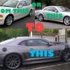 BMW E46 & Mercedes-Benz CL transformation into Chevrolet Camaro
