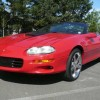 4th gen red 2000 Z28 SS Chevrolet Camaro convertible For Sale