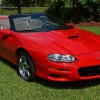 Bright Rally Red 2002 Chevrolet Camaro SS automatic For Sale