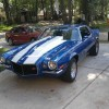 2nd gen blue 1970 Split Bumper Chevrolet Camaro Z28 For Sale