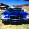 2nd gen blue 1973 Chevrolet Camaro LT Z28 tribute For Sale