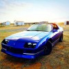 3rd generation blue 1990 Chevrolet Camaro V8 For Sale