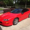 4th generation red 1999 Chevrolet Camaro Z28 LS1 V8 For Sale