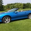 Blue 1999 Chevrolet Camaro V6 automatic convertible For Sale