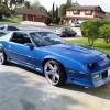 3rd gen blue 1991 Chevrolet Camaro Z28 V8 automatic For Sale