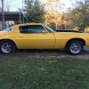 2nd gen yellow 1975 Chevrolet Camaro automatic For Sale