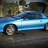 4th gen blue 1996 Chevrolet Camaro V6 automatic For Sale