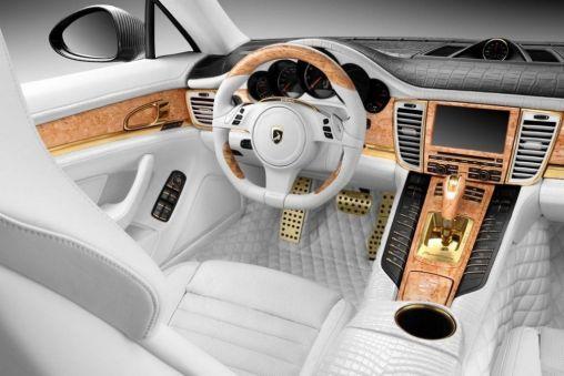 2012 Porsche Panamera Turbo S Stingray GTR Gold Interior