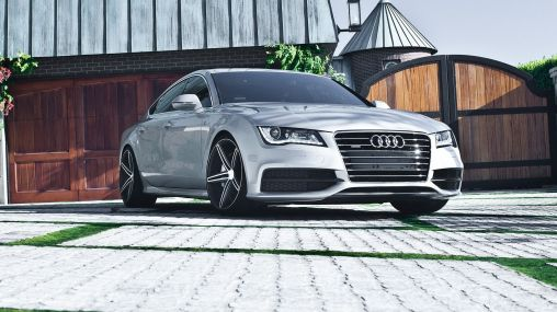 2012 Audi A7 on Vossen VVS-CV5 Concave Wheels 1920×1080 HD