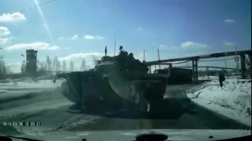 Meanwhile in Russia another tank spotted on a public road