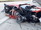 Ferrari 430 Scuderia crashed while driving at 300 km/h speed