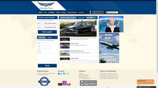 genesiscar.co.uk: we are Minicabs Taxi Chauffeurs in UK