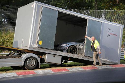 2014 BMW M3 Prototype's crash at the Nurburgring track