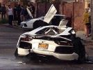 Lamborghini Aventador splits in half after a brutal crash