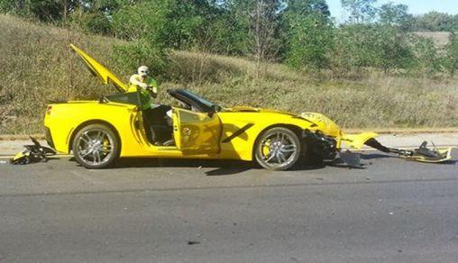 2014 Chevrolet Corvette Stingray crash occurred once again