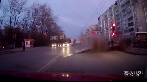 Public road exploded in Russia!