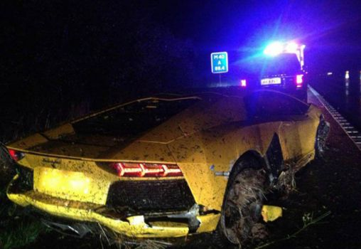 Three exotic sports cars crash accidents before Halloween