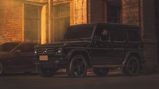 Mercedes-Benz G55 digital art Brooklyn crime 1920×1080 HD