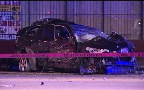 Lethal BMW Crash: Hits Police Car, Slams Into Building