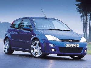 Blue Ford Focus