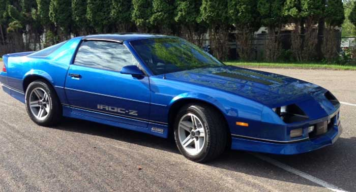 Blue 1987 Chevrolet Camaro Iroc Z 305 Tpi Automatic For